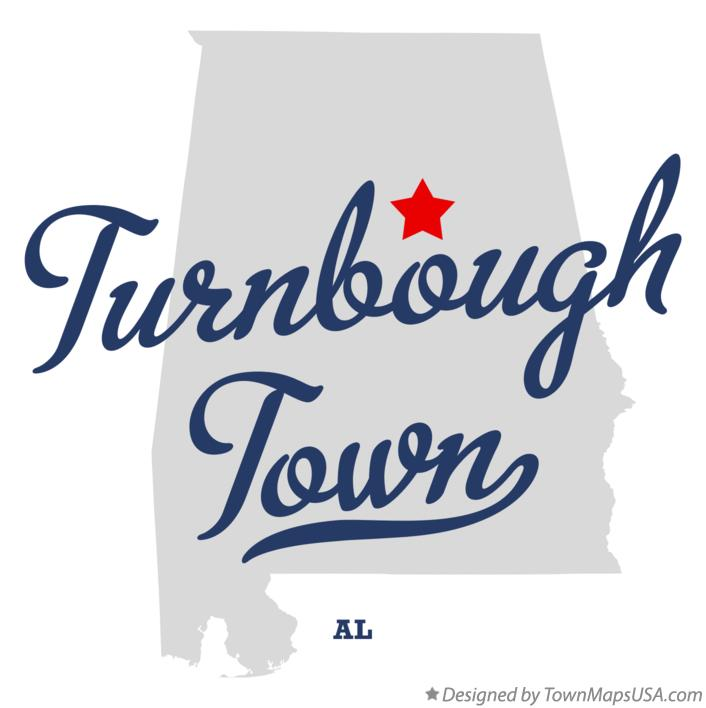 Map of Turnbough Town Alabama AL