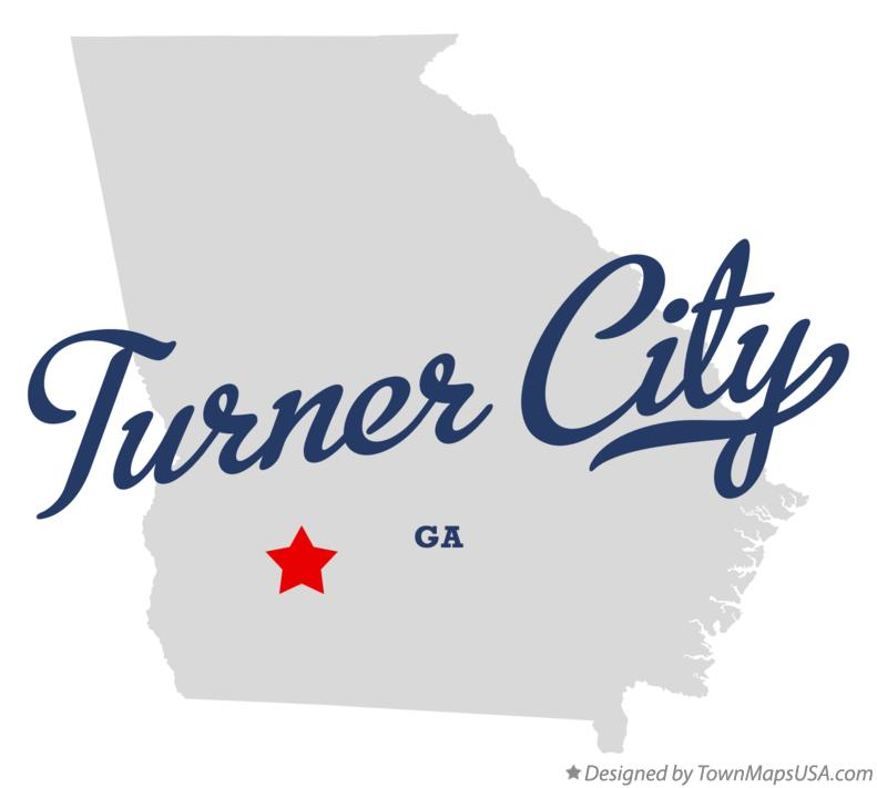 Map of Turner City Georgia GA