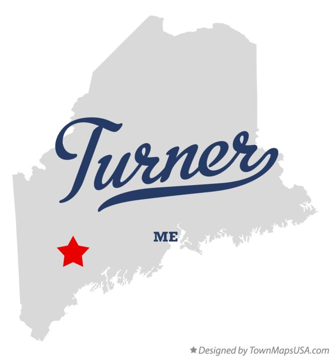 Map of Turner Maine ME