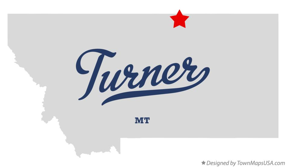 Map of Turner Montana MT