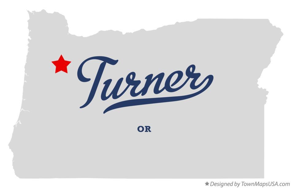 Map Of Turner Or Oregon