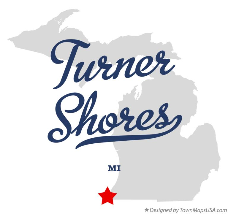 Map of Turner Shores Michigan MI