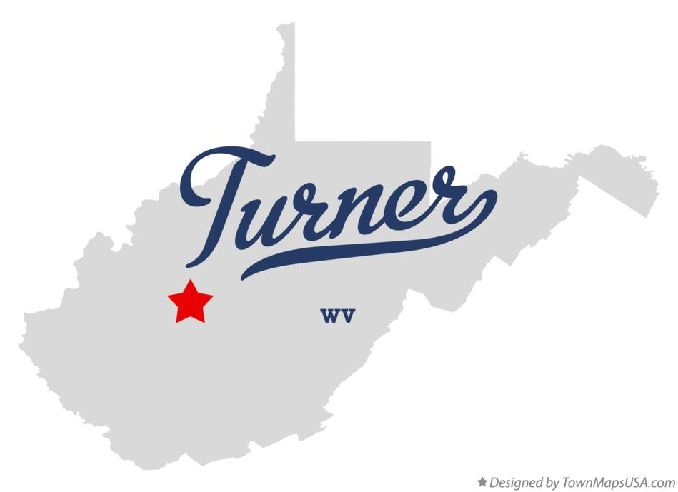 Map of Turner West Virginia WV