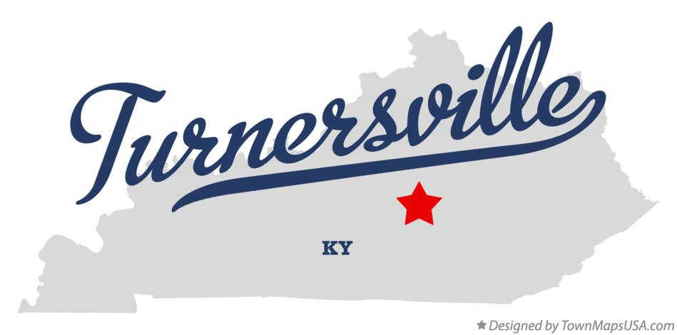 Map of Turnersville Kentucky KY