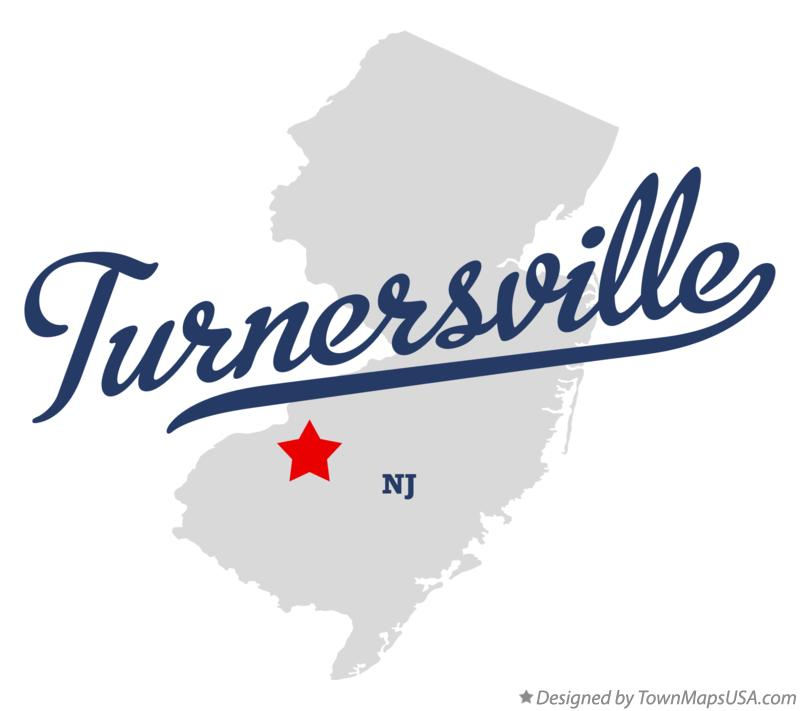 Map of Turnersville New Jersey NJ