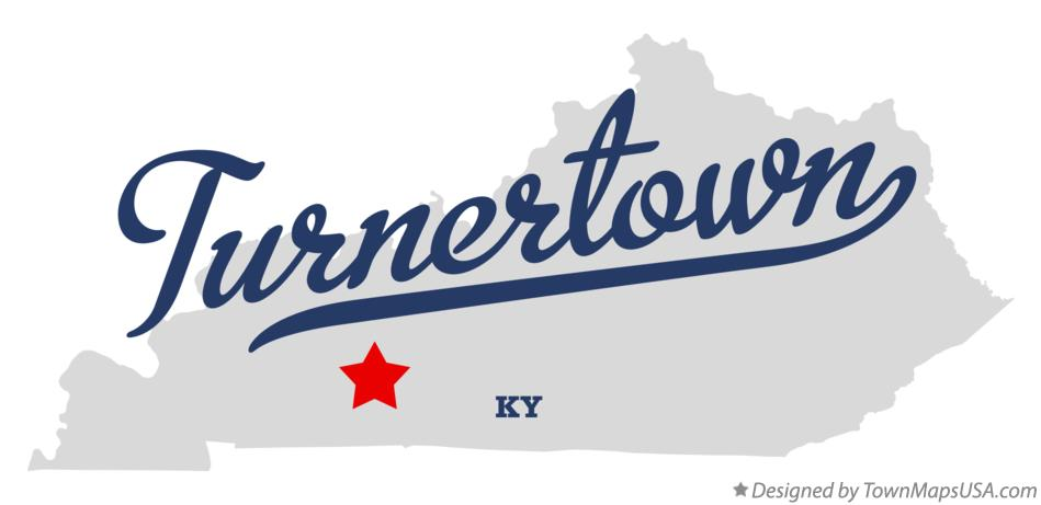 Map of Turnertown Kentucky KY