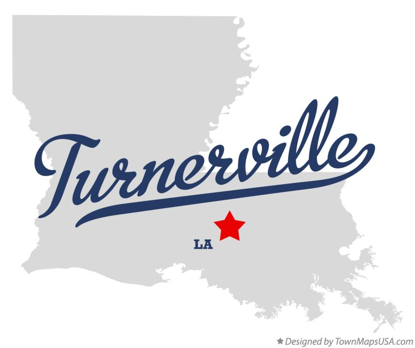 Map of Turnerville Louisiana LA