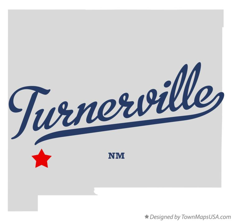 Map of Turnerville New Mexico NM