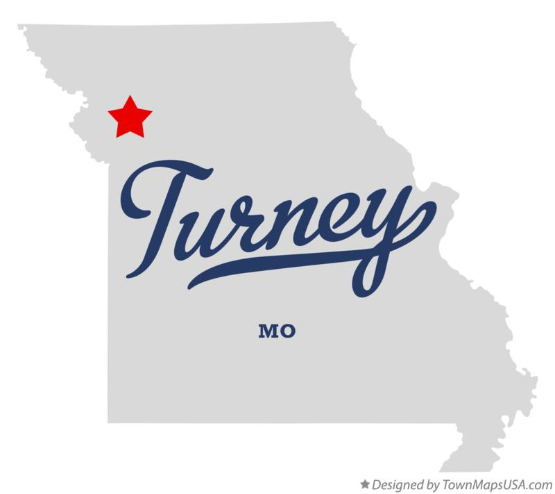 Map of Turney Missouri MO