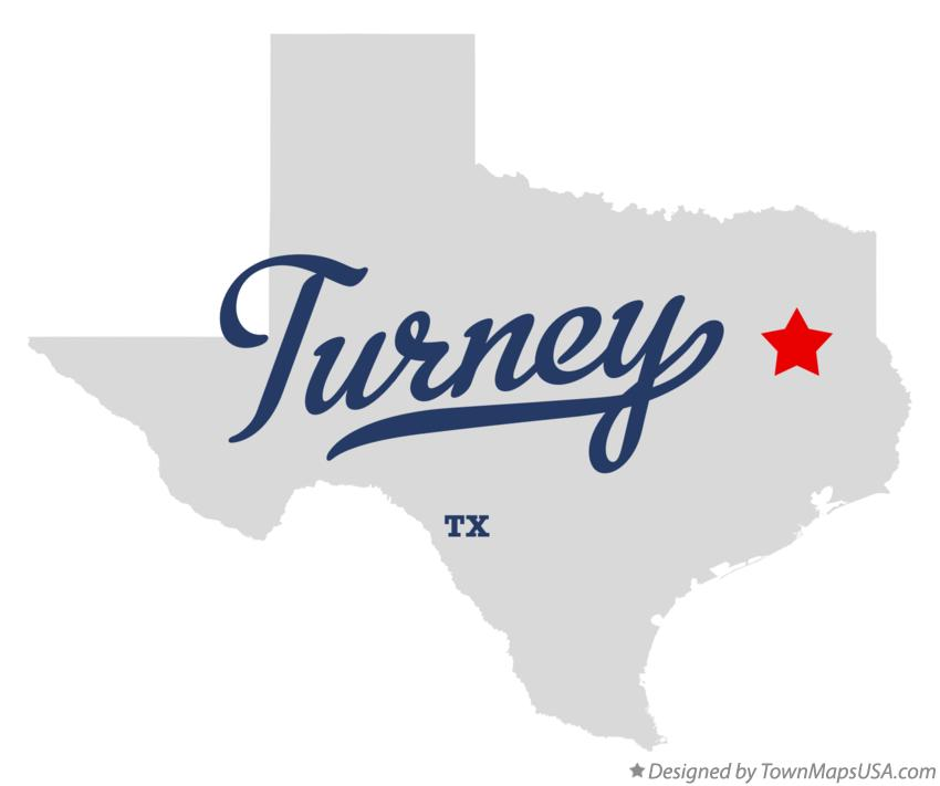 Map of Turney Texas TX
