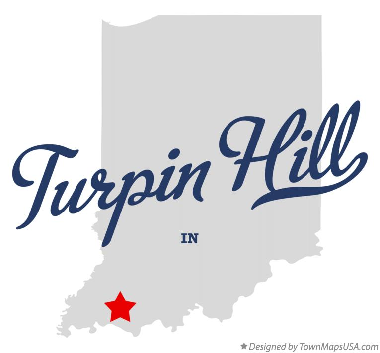 Map of Turpin Hill Indiana IN
