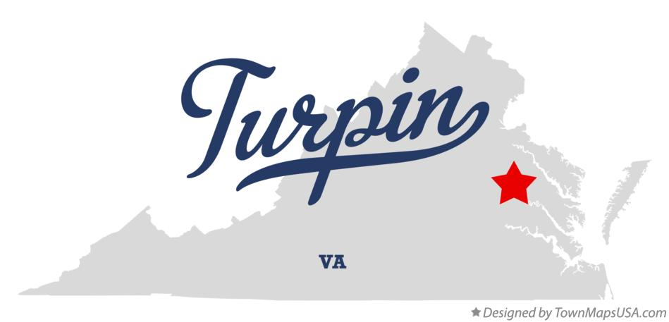 Map of Turpin Virginia VA
