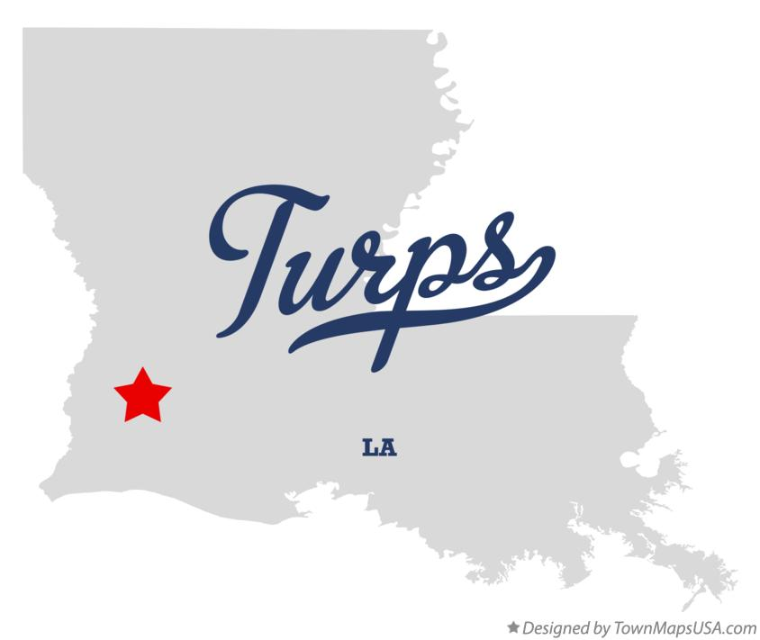 Map of Turps Louisiana LA