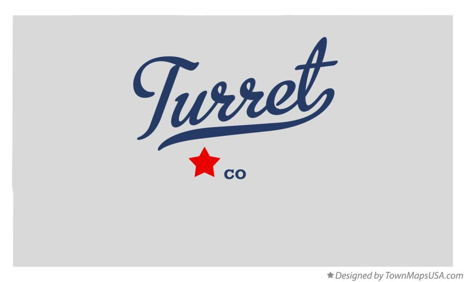 Map of Turret Colorado CO
