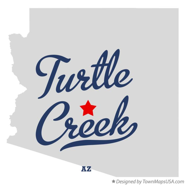Map of Turtle Creek Arizona AZ