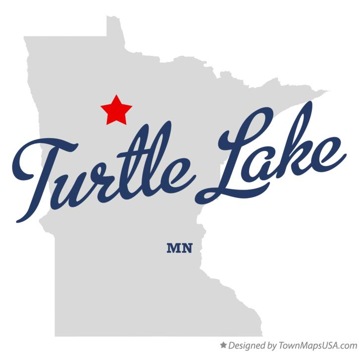 Map of Turtle Lake Minnesota MN