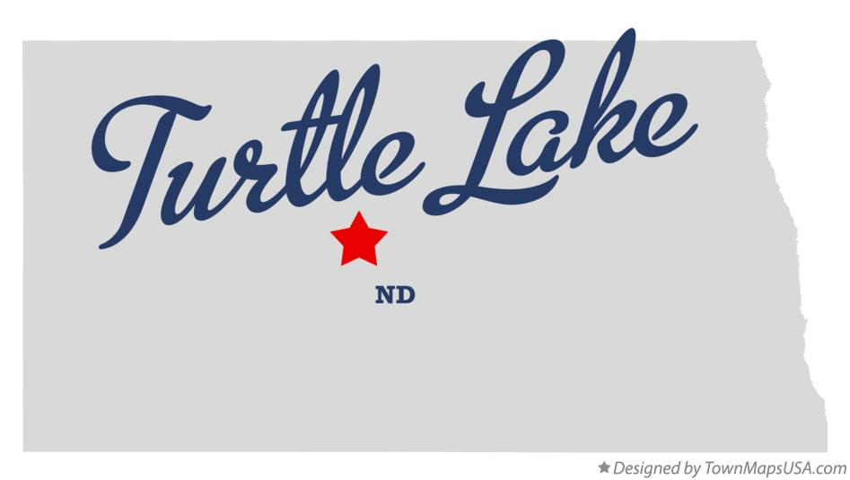 Map of Turtle Lake North Dakota ND