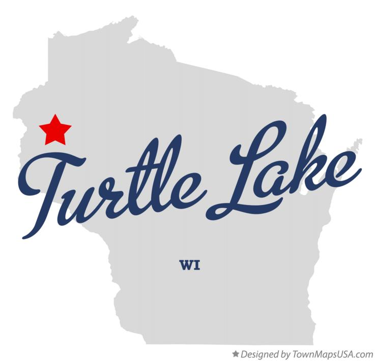 Map of Turtle Lake Wisconsin WI
