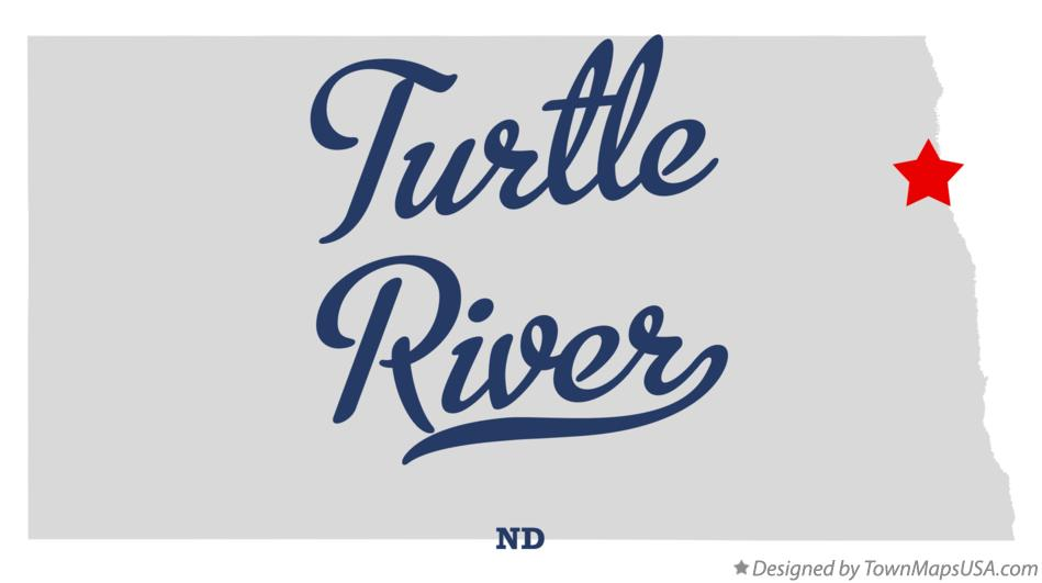 Map of Turtle River North Dakota ND