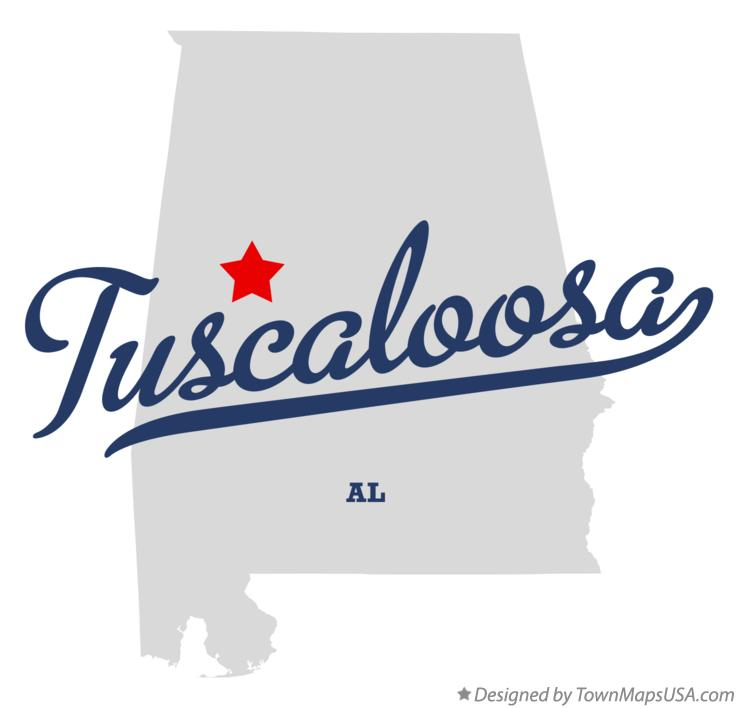 Map of Tuscaloosa Alabama AL