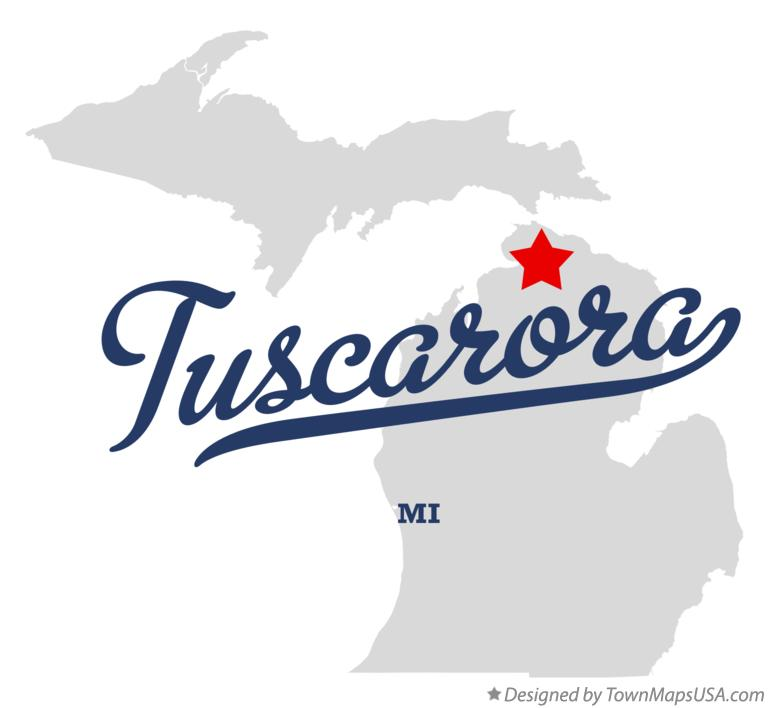 Map of Tuscarora Michigan MI