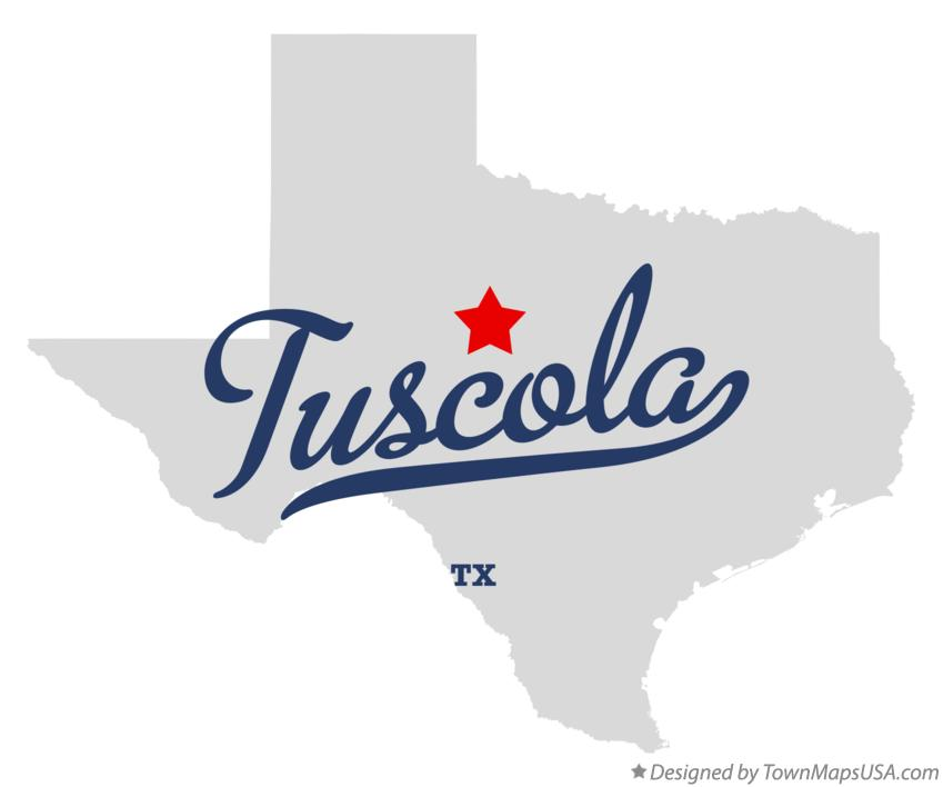 Map of Tuscola Texas TX