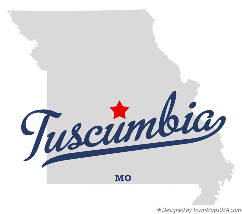 Map of Tuscumbia Missouri MO
