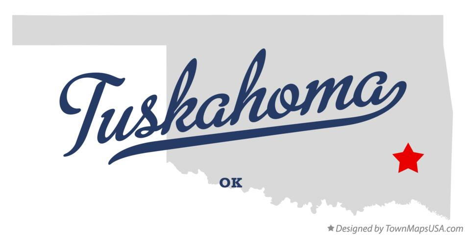 Map of Tuskahoma Oklahoma OK