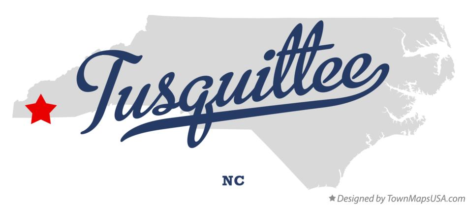 Map of Tusquittee North Carolina NC