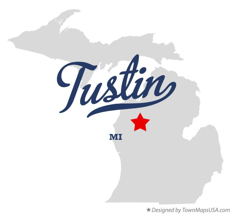Map of Tustin Michigan MI