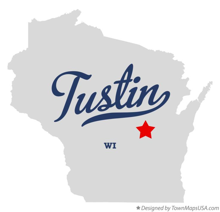 Map of Tustin Wisconsin WI