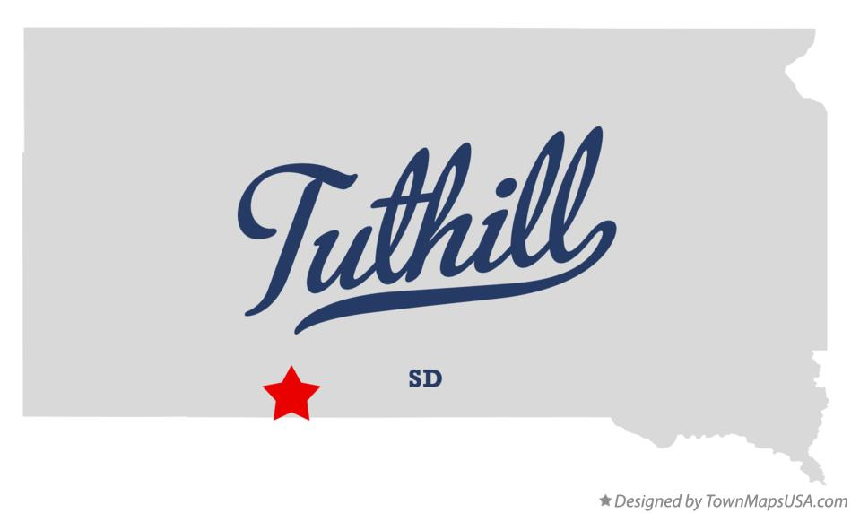 Map of Tuthill South Dakota SD