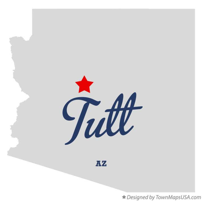 Map of Tutt Arizona AZ