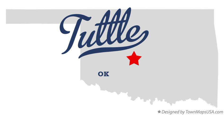 Map of Tuttle Oklahoma OK