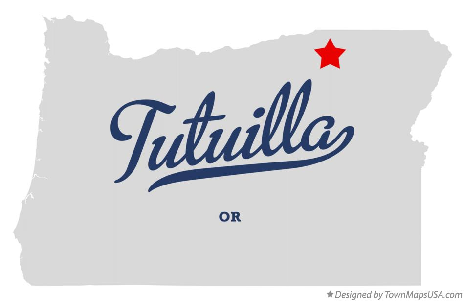 Map of Tutuilla Oregon OR