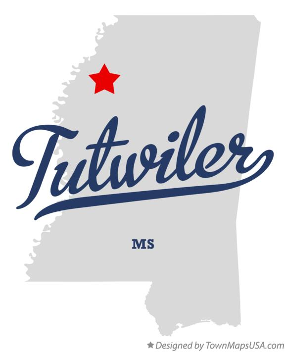 Map of Tutwiler Mississippi MS