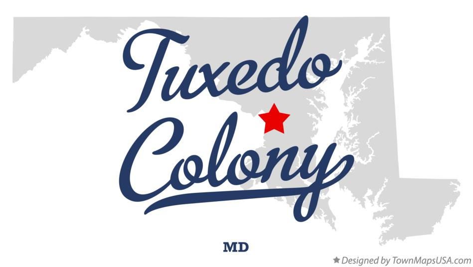 Map of Tuxedo Colony Maryland MD