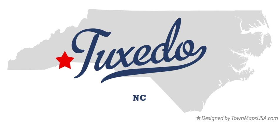 Map of Tuxedo North Carolina NC