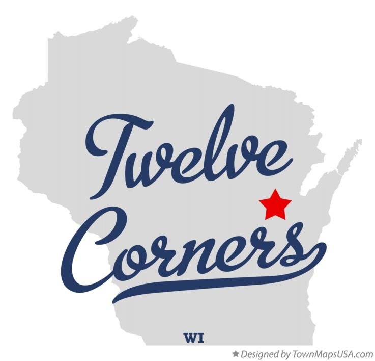 Map of Twelve Corners Wisconsin WI