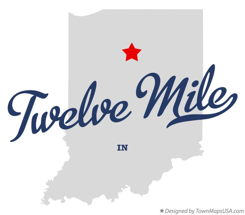 Map of Twelve Mile Indiana IN