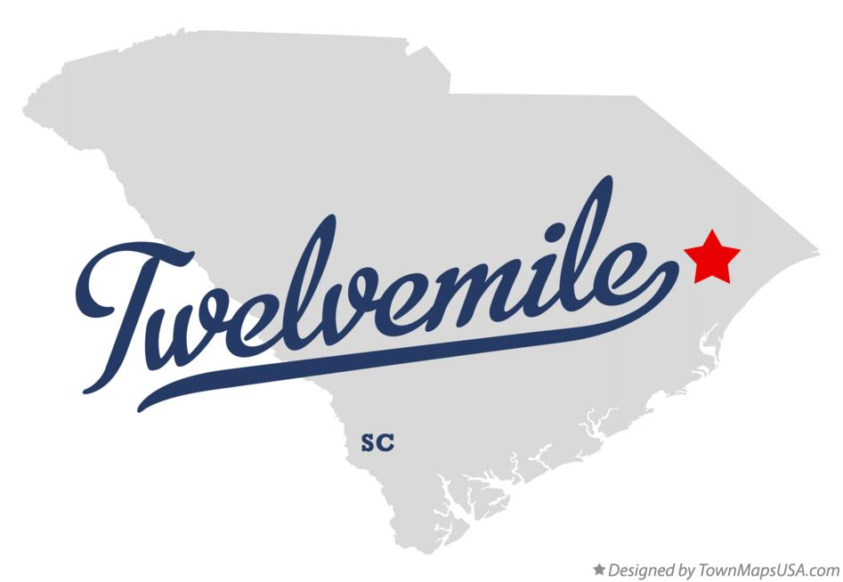 Map of Twelvemile South Carolina SC