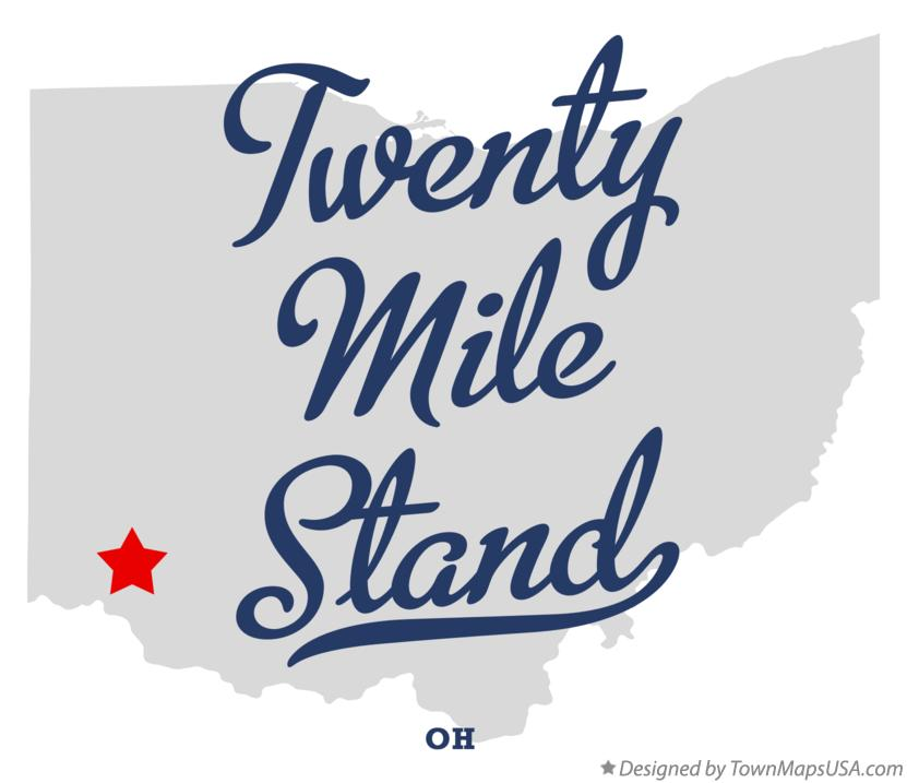 Map of Twenty Mile Stand Ohio OH