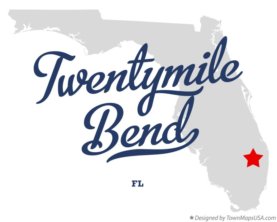 Map of Twentymile Bend Florida FL