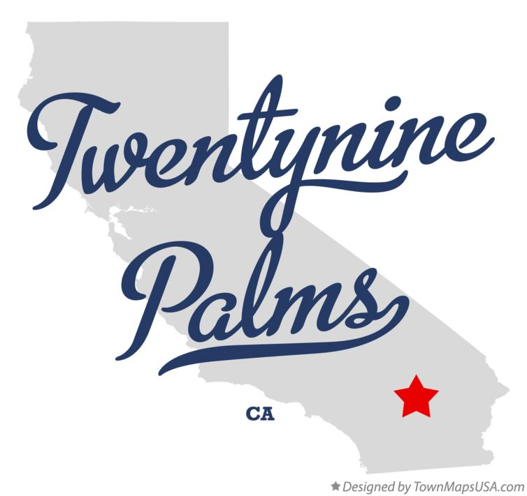 Twentynine Palms California Map.Map Of Twentynine Palms Ca California