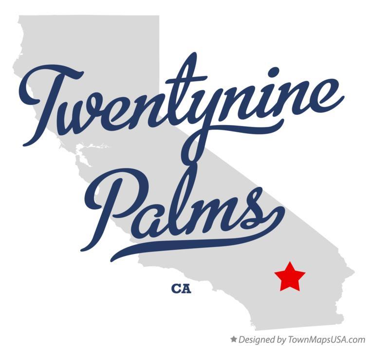 Map Of Twentynine Palms Ca California