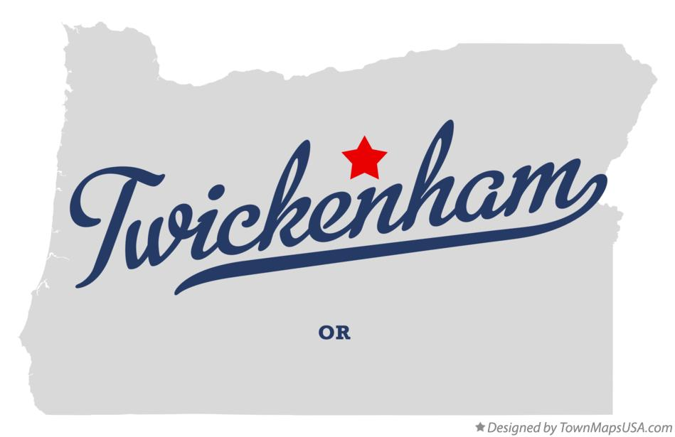 Map of Twickenham Oregon OR