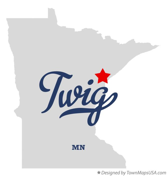 Map of Twig Minnesota MN