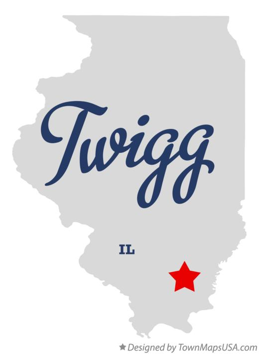 Map of Twigg Illinois IL