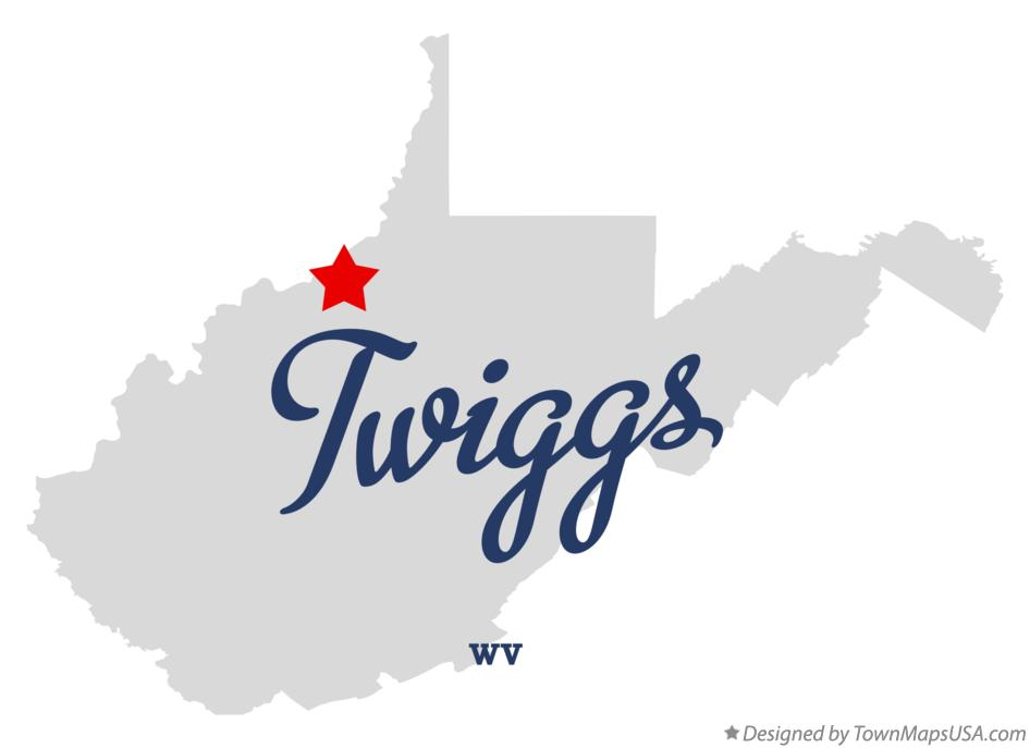 Map of Twiggs West Virginia WV