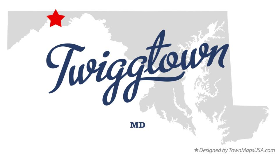 Map of Twiggtown Maryland MD